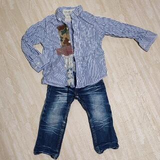 フィス(FITH)のフィス シャツ&ダディオダディ デニムパンツ 100(Tシャツ/カットソー)