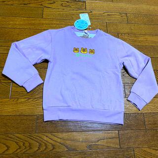 バンダイ(BANDAI)の新品140cm長袖トレーナーあつ森switchあつまれどうぶつの森たぬきち刺繍紫(その他)