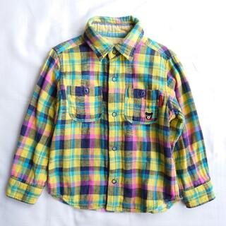 ミキハウス(mikihouse)のミキハウス ダブルビー チェックシャツ 100(ブラウス)