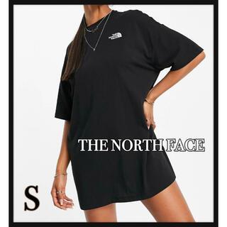 ザノースフェイス(THE NORTH FACE)のTHE NORTH FACE  ロゴ刺繍Tシャツワンピース  タグ付き新品(ミニワンピース)