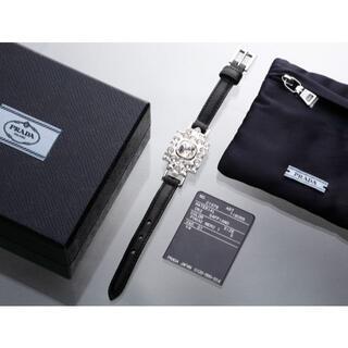 プラダ(PRADA)のS7144 良品 プラダ サフィアーノ クリスタル ブレスレット(ブレスレット/バングル)