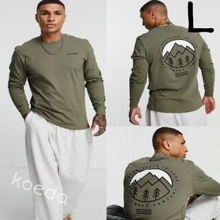 コロンビア(Columbia)のColumbia コロンビア ロンt 長袖 海外限定 緑 グリーン 海外Lサイズ(Tシャツ/カットソー(七分/長袖))