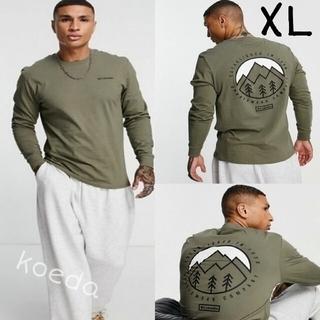 コロンビア(Columbia)のColumbia コロンビア ロンt 長袖 海外限定グリーン 海外XLサイズ(Tシャツ/カットソー(七分/長袖))