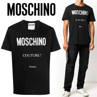 モスキーノ(MOSCHINO)の2 MOSCHINO ブラック ラウンドネック Tシャツ size 46(Tシャツ/カットソー(半袖/袖なし))