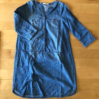 ショコラフィネローブ(chocol raffine robe)のショコラフィネローブデニムワンピース(ひざ丈ワンピース)