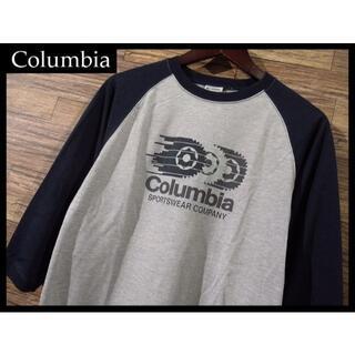 コロンビア(Columbia)の★ G② コロンビア PM2224 ギア ロゴ 七分袖 ラグラン Tシャツ M(Tシャツ/カットソー(七分/長袖))