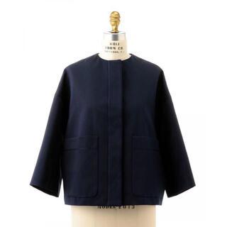 ドゥロワー(Drawer)のドゥロワー ノーカラー ジャケット ネイビー コート 七五三  入園式 卒園式(ノーカラージャケット)