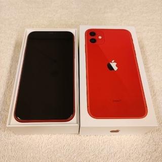 アップル(Apple)の【超美品】iPhone11 64GB simフリー (PRODUCT)RED(スマートフォン本体)