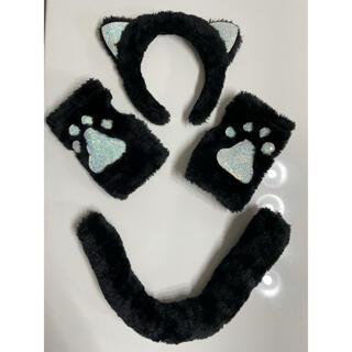 クレアーズ(claire's)のハロウィン 猫コスチューム 4点セット(小道具)