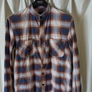 ナンバーナイン(NUMBER (N)INE)のナンバーナイン 08AW ノーカラー比翼チェックシャツ(シャツ)