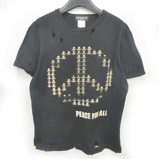マスターマインドジャパン(mastermind JAPAN)のマスターマインド スカルプリント Tシャツ ダメージ加工 クラッシュ S(Tシャツ/カットソー(半袖/袖なし))
