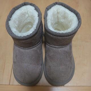 プティマイン(petit main)の【petit main】フェイクムートンブーツ 17cm(ブーツ)