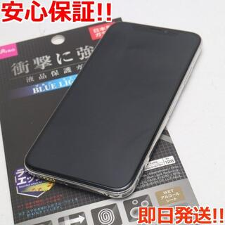 アイフォーン(iPhone)の超美品 SIMフリー iPhoneX 64GB シルバー (スマートフォン本体)