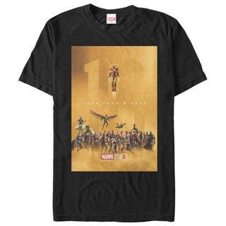 マーベル(MARVEL)のマーベルスタジオ10周年記念イラストTシャツ Mサイズ(Tシャツ/カットソー(半袖/袖なし))