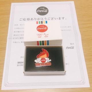 コカ・コーラ - コークオン 東京2020 オリンピック ピンバッジ 聖火