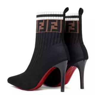 フェンディ(FENDI)のFENDI ソックスブーツ ショートブーツ(ブーツ)