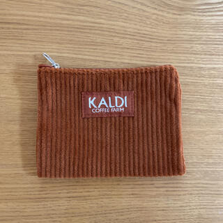 KALDI - 【KALDI】カルディ コーヒーファーム ポーチ 未使用 コーデュロイ