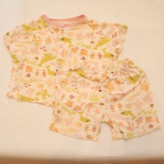 アンパサンド(ampersand)のベビー キッズ 女の子 90cm Ampersand 半袖 パジャマ 上下セット(パジャマ)
