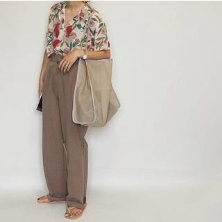 IENA SLOBE - 美品★ Arco-Iris ボタニカル花柄 半袖 ゆったりVネックシャツ