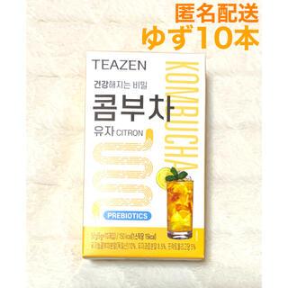 最安値 TEAZEN ティーゼン コンブチャ ゆず 10本 ジョングク BTS(ダイエット食品)