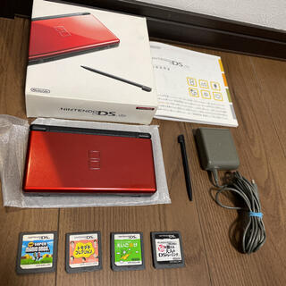 ニンテンドーDS - 任天堂DS lite本体、付属品、ソフト4本セット