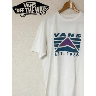 ヴァンズ(VANS)のvans バンズ ヴァンズ 白 ホワイト フロントプリント ダメージt(Tシャツ/カットソー(半袖/袖なし))