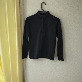 バーバリー(BURBERRY)のバーバリー 長袖Tシャツ ハイクラスライン ブラック(Tシャツ(長袖/七分))