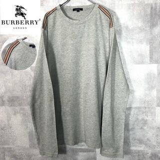 バーバリー(BURBERRY)のBURBERRY LONDON ノバチェック ライン 長袖 カットソー(Tシャツ/カットソー(七分/長袖))