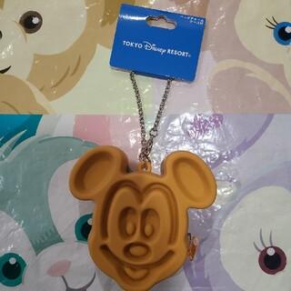 ディズニー(Disney)のディズニー ワッフルミッキーバッグチャーム コインケース キーチェーン(キーホルダー)