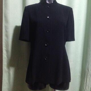 ソワール(SOIR)の黒ブラウスジャケット(礼服/喪服)