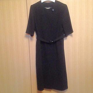 黒フォーマルワンピース11(礼服/喪服)