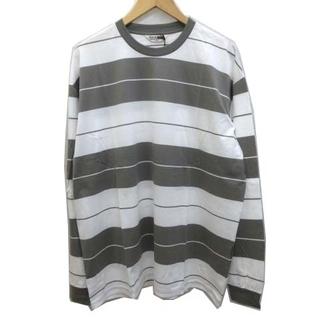 クーティー(COOTIE)のクーティー 21SS Tシャツ 長袖 ボーダー クルーネック コットン L(Tシャツ/カットソー(七分/長袖))