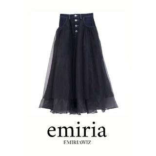 エミリアウィズ(EmiriaWiz)のEmiriaWiz デニムドッキングチュールスカート(ロングスカート)