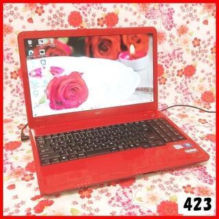 エヌイーシー(NEC)の423ノートパソコン本体♪Corei5♪新品SSD♪初心者も安心♪Win10(ノートPC)