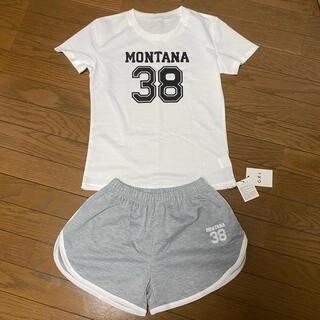 グレイル(GRL)の新品 GRL グレイル ルームウェア M セットアップ Tシャツ ショートパンツ(ルームウェア)