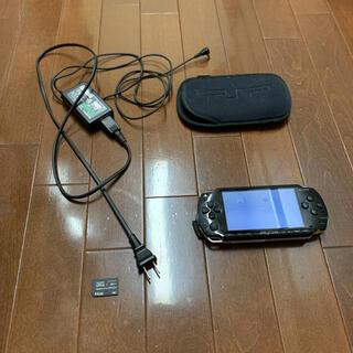 SONY - psp本体 メモリスティック4gb 充電ケーブル ケース