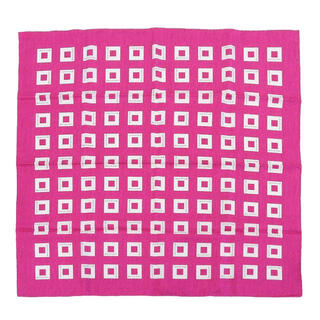 ブルガリ(BVLGARI)の美品 ブルガリ ロゴ柄 スクエア シルク スカーフ ピンク パープル(バンダナ/スカーフ)