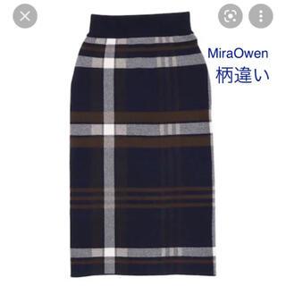 ミラオーウェン(Mila Owen)のMilaOwen チェックニットタイトスカート(ひざ丈スカート)