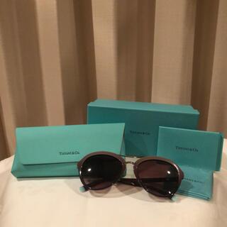 ティファニー(Tiffany & Co.)の【新品】Tiffany サングラス ブラウン×ティファニー ブルー(サングラス/メガネ)