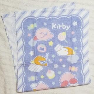 ニンテンドウ(任天堂)の星のカービィ フェイスタオル カービィ ワドルディ おひるね おやすみ 青 水色(タオル)