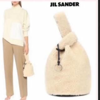 ジルサンダー(Jil Sander)のjil sander♡ムートンバック♡ホワイト(トートバッグ)