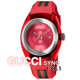 Gucci - 【早い者勝ち‼︎最終値下】GUCCI Watch SYNC ⭐︎レッド