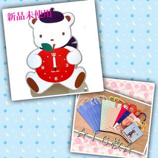 ファミリア(familiar)の【新品未使用】familiar 掛け時計 & ☆レア☆ショッパー 16枚 セット(その他)