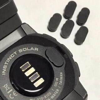 黒3個 即発送 高品質シリコン 充電ポート カバー GARMIN  ガーミン(ランニング/ジョギング)
