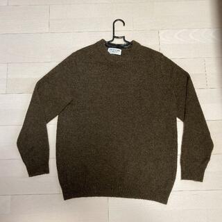 グローバルワーク(GLOBAL WORK)のグローバルワーク セーター ニット 長袖 メンズ ブラウン サイズM(ニット/セーター)