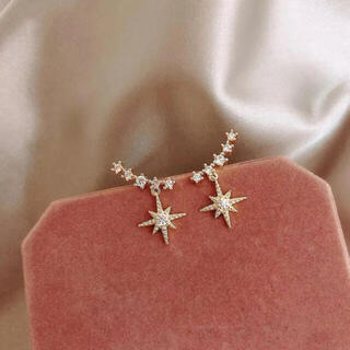 4℃ - 新品 gold star zirconia pierce s925 post