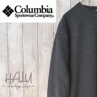 コロンビア(Columbia)のColumbia コロンビア スウェットレーナー シンプル ロゴ入り 黒(スウェット)