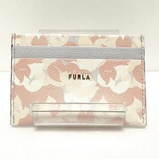 フルラ(Furla)のFURLA(フルラ) カードケース美品  - レザー(名刺入れ/定期入れ)