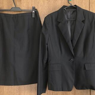 アオキ(AOKI)の#レディース スーツ #就活 #リクルート #新社会人 #黒字ストライプ(スーツ)