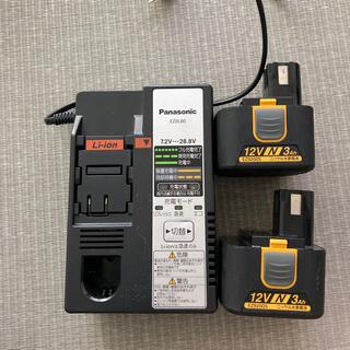 パナソニック(Panasonic)のパナソニック 充電器 充電池2個 EZOL80(その他)
